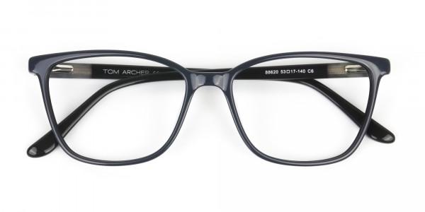 Acetate Classic Blue Spectacles in Rectangular - 6