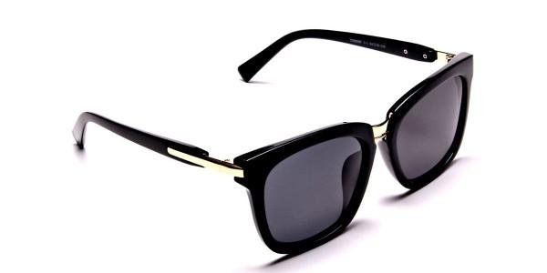 Women's Fashion Black Wayfarer Sunglasses - 1