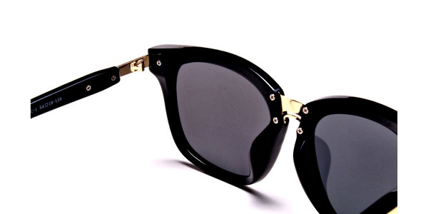 Women's Fashion Black Wayfarer Sunglasses - 4