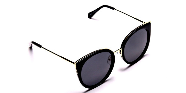 Beautiful Gold and Black sunglasses -1