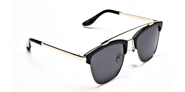 Grace's DESIGNER gold & black sunglasses -1