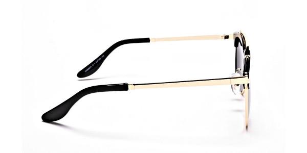 Grace's DESIGNER gold & black sunglasses -3