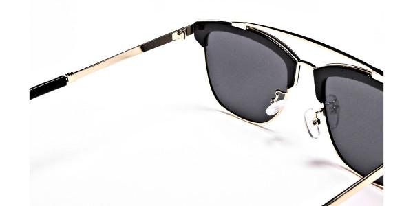 Grace's DESIGNER gold & black sunglasses -4