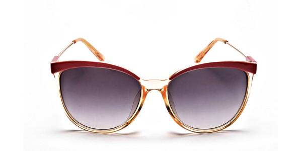 Red & Gold Browline Super Glam Sunglasses