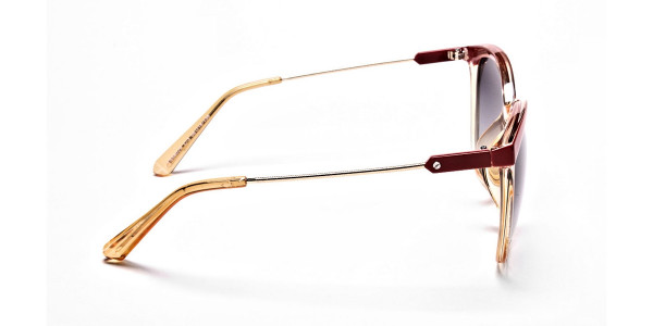 Red & Gold Browline Super Glam Sunglasses -3