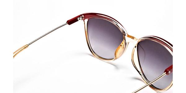 Red & Gold Browline Super Glam Sunglasses -4