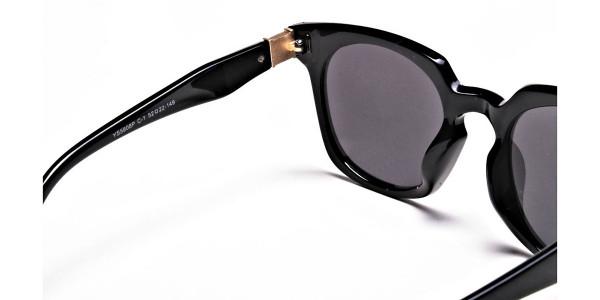 Dark Black & Grey Sunglasses -4