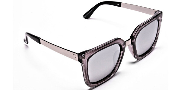 White Retro Sunglasses -1