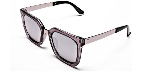 White Retro Sunglasses -2