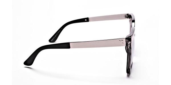 White Retro Sunglasses -3
