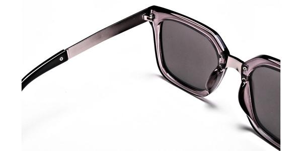 White Retro Sunglasses -4