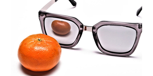 White Retro Sunglasses -5