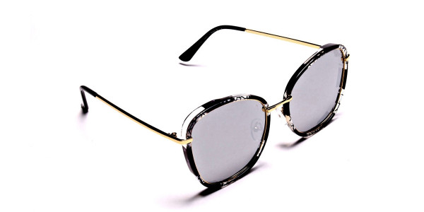 Black Colour Variations Sunglasses - 1