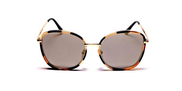Havana & Tortoiseshell Oversized Sunglasses