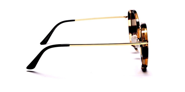 Havana & Tortoiseshell Oversized Sunglasses - 3