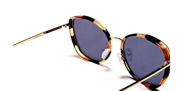 Havana & Tortoiseshell Oversized Sunglasses - 5