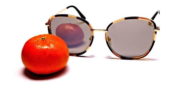 Havana & Tortoiseshell Oversized Sunglasses - 4