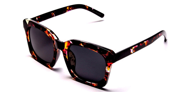 Tortoiseshell Unique Sunglasses -2