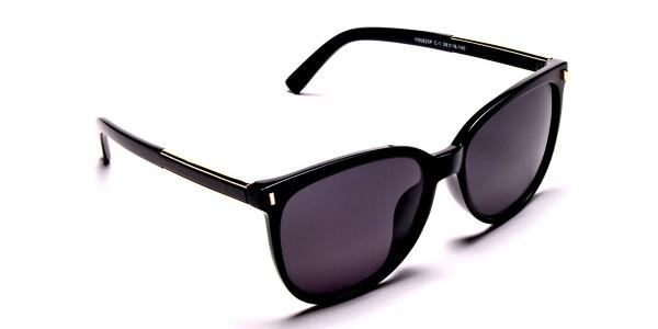 Black & Gold Chic Sunglasses -1