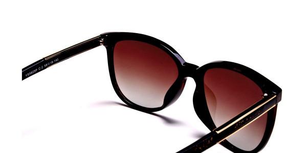 Black & Glitter Sunglasses -4