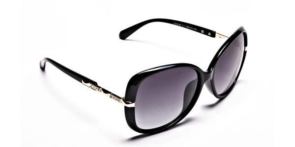 Sunglasses with Black & Grey Gradients -1