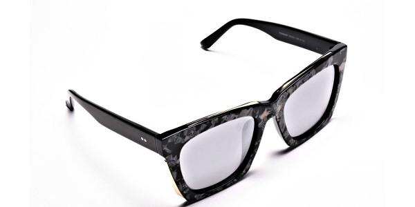 Tortoiseshell Silver Sunglasses -1