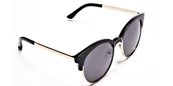 Gold & Black Browline Sunglasses -1