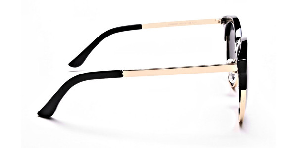 Gold & Black Browline Sunglasses -3