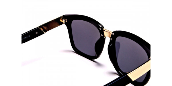 Black & Gold Sunglasses -4
