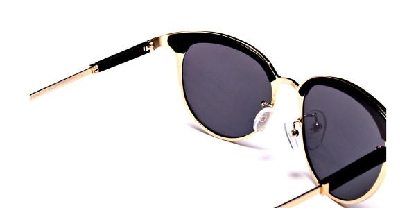 GOLD ROUND Sunglasses -4