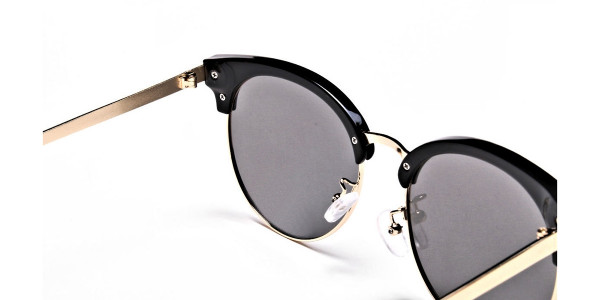 Gold Browline Sunglasses, Gold Eyeglasses - 3
