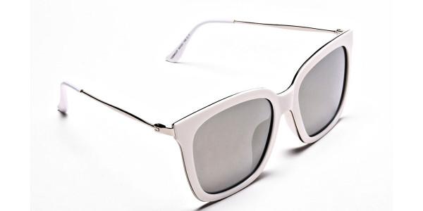 Cream & silver Sunglasses -1
