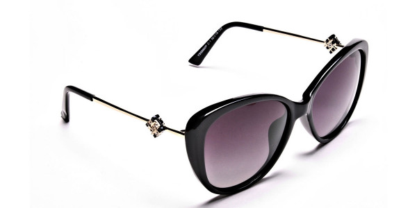 Black and Gold Sunglasses -1
