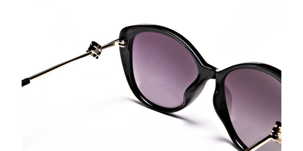 Black and Gold Sunglasses -4