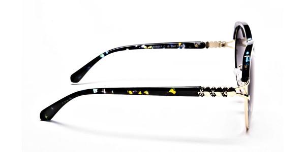 Emerald & Gold Oversized Sunglasses - 3