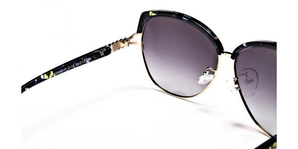Emerald & Gold Oversized Sunglasses - 4