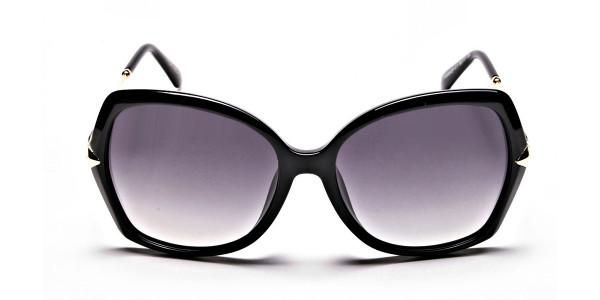 Black & Gold Oversized Glasses