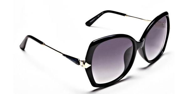 Black & Gold Oversized Glasses- 1
