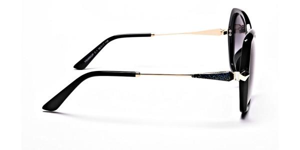Black & Gold Oversized Glasses- 3
