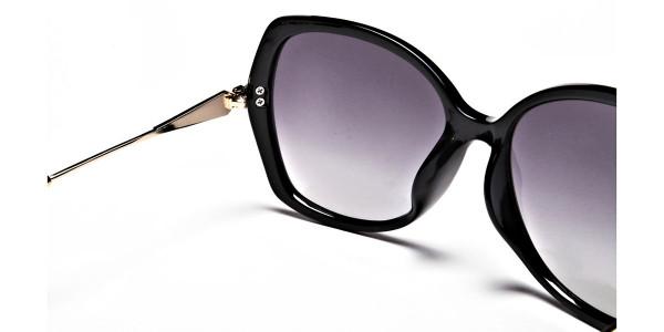 Black & Gold Oversized Glasses - 4