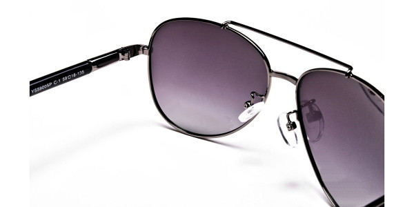 Black Framed Sunglasses -4