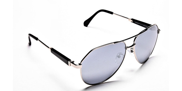 Silver & Grey Mens Sunglasses -1