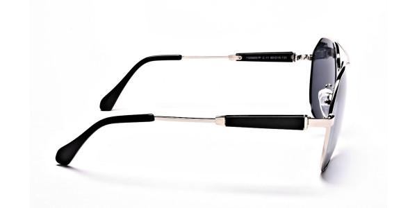 Silver & Grey Mens Sunglasses -3