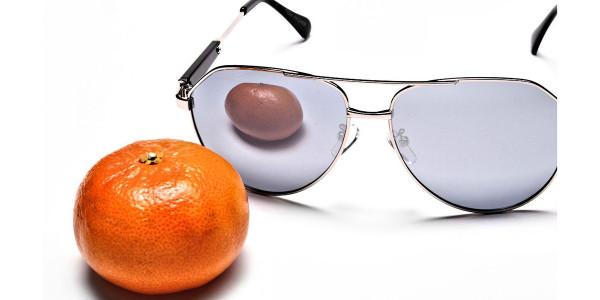 Silver & Grey Mens Sunglasses -4