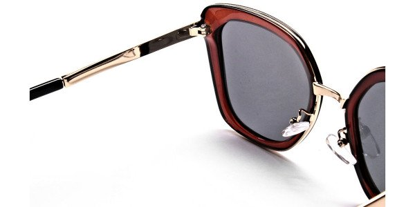 Brown Sunglasses with Grey Lenses Sunglasses