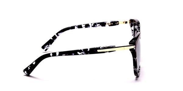 Black and White Oversized Wayfarer Sunglasses - 3