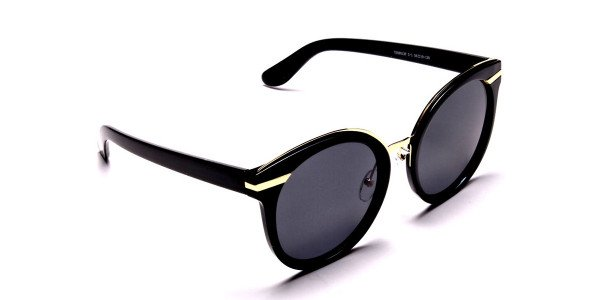 Black & Gold Round Glasses -1