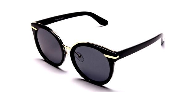Black & Gold Round Glasses -2