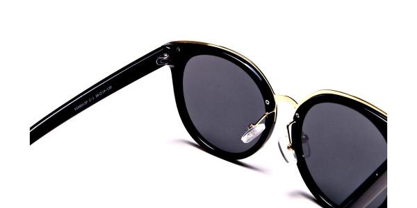 Black & Gold Round Glasses -4