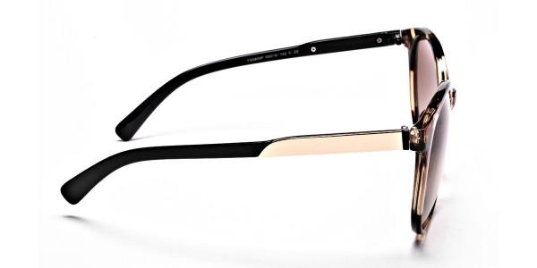 Oversized Rectangular Sunglasses in Tortoiseshell - 4